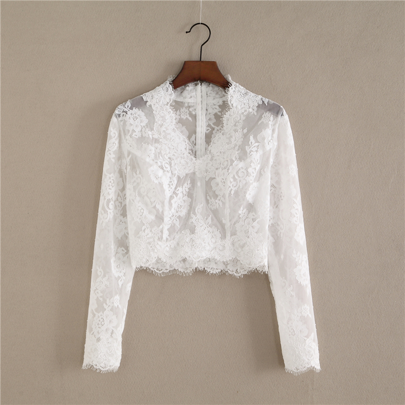 Long sleeve lace top 1