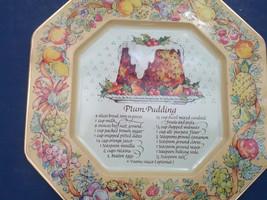Avon hospitality sweets recipe plate plum pudding recipe metal decorativ... - $9.89