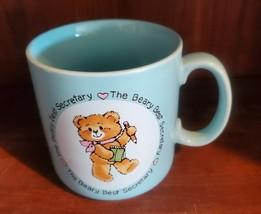 Vintage 1985 Applause the Beary Best Secretary Mug Cup Coffee Tea - $7.99