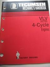 Tecumseh Mechanic's Handbook VLV Vector 4-Cycle Engines original repair manual - $11.85
