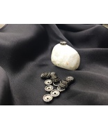 Victorian Oxidized Rondell Spacer 7mm Bead .925SterlingSilver with Pave ... - $20.00