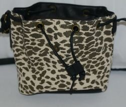 Howards Product Number 68865 Small Bucket Bag Leopard Print Gold Color Accent image 3