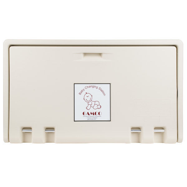 Gamco Baby Restroom Changing Station Table Wall Mount Tan Commercial Bathroom