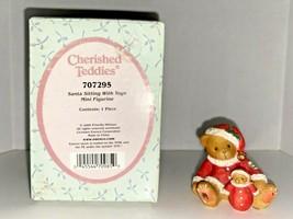 Cherished Teddies Santa Sitting With Toys Mini Figurine - $24.99
