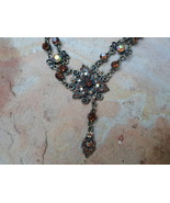 Vintage Style Dangle Rhinestone necklace - $20.00