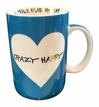 "Betsey Johnson xox Trolls Blue Large Mug 20 oz ""Crazy Happy"" Trolls - $33.17 CAD"