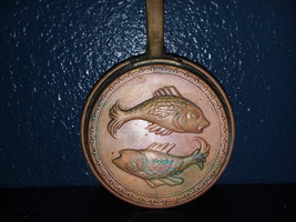 Copper Pan Pisces Fish Kitchen Vintage Wall Hanging Rustic Decor Country... - $17.95