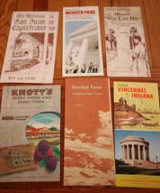 Lot 6 Vtg 60s Travel Pamphlets KNOTTS Berry Farm CA Missons Petrified Fo... - $15.99