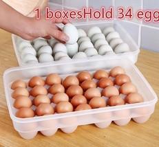 Plastic Egg Storage Box Large Box Kitchen Egg Box Put Egg Shelf Kitchen ... - ₨3,248.60 INR