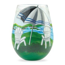 "Adirondack ""Designs by Lolita"" Stemless Wine Glass 20 o.z. 4.53"" H Giftbox"