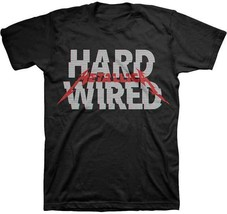 Metallica Glitch Hard Wired Music Band Rock Metal Adult Mens Tee Shirt M... - $17.99