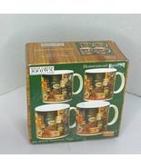 David Carter Brown 4 pc Set Cup Mug Homestead Pantry Sakura  - $28.04
