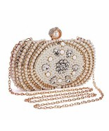 Clocolor Evening Bags and Clutches for Women Crystal Rhinestone for (White) - $43.60