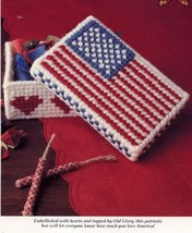"All-American Box 5"" by 3"" Flag Plastic Canvas PATTERN/INSTRUCTIONS NEW - $0.90"