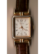 Carriage Quartz Ladies Watch - brown leather st... - $9.00