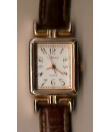 Carriage Quartz Ladies Watch - brown leather strap - gold ca - $9.00