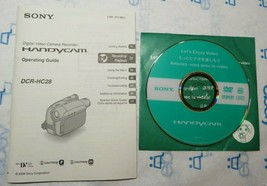 Genuine Sony HandyCam DCR-HC28 Camera Owners Manual Guide + Software - $15.88