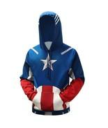 Captain America Series 3D Digital Print Long Sleeve Hoodie Sweater For U... - $29.96
