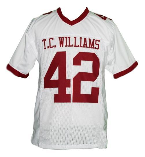Bertier  42 remember the titans football jersey white 1