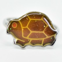 Silver Tone Turtle Kid's Fashion Color Changing Fashion Adjustable Mood Ring