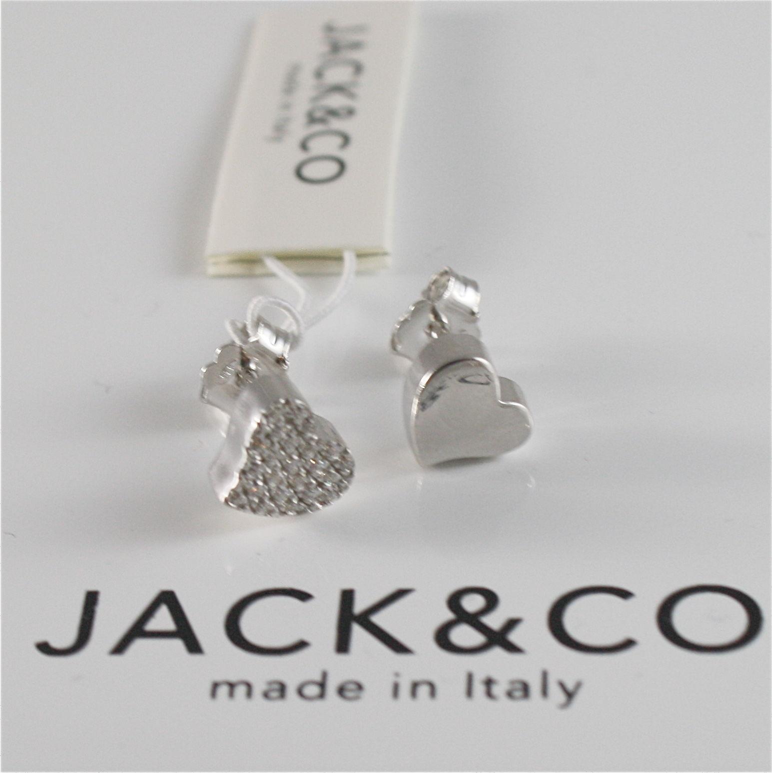 EARRINGS SILVER 925 JACK&CO WITH HEART LOVE WITH ZIRCON CUBIC JCE0454