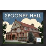 """Kansas University """"Spooner Hall"""" 13x16 Art Deco Framed Print  - $39.95"""
