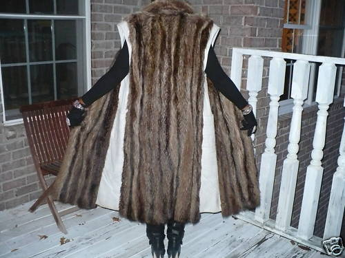 Stylish Full Length Raccoon Fur Vest for Coat Jacket SM