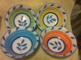 (4) TABLETOPS UNLIMITED----CEREAL BOWLS- -- AUTUMN BLUE--FREE SHIP--VGC - $31.60