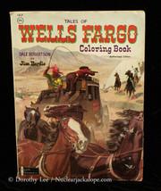 Tales of Wells Fargo Coloring Book 1967 Watkins Strathm - $14.99