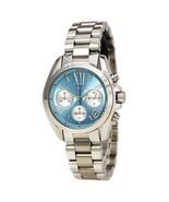 Michael Kors MK6098 Women's Bradshaw Chronograph Silver Tone, Blue Dial ... - £87.21 GBP
