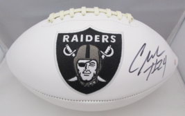 CHARLES WOODSON / AUTOGRAPHED OAKLAND RAIDERS LOGO WHITE PANEL FOOTBALL / COA