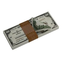 PROP MOVIE MONEY - Series 1920s Vintage $100 Full Print Prop Money Stack - $22.99+