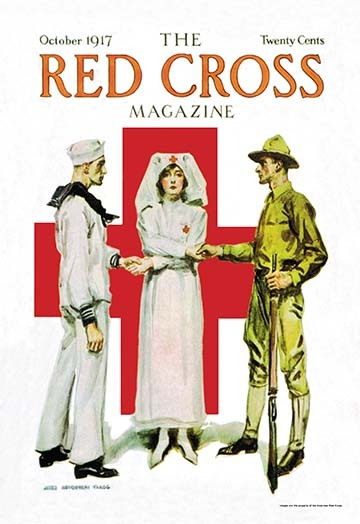 Primary image for The Red Cross Magazine, October 1917 by James M. Flagg - Art Print
