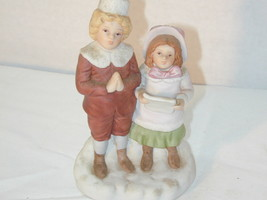 1987 Boy & Girl Caroling Christmas Legacy H3623 - $23.76