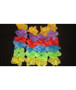 Rainbow Flower Hair Accessories - Bobby Pins - Upcycled Cloth - $5.50