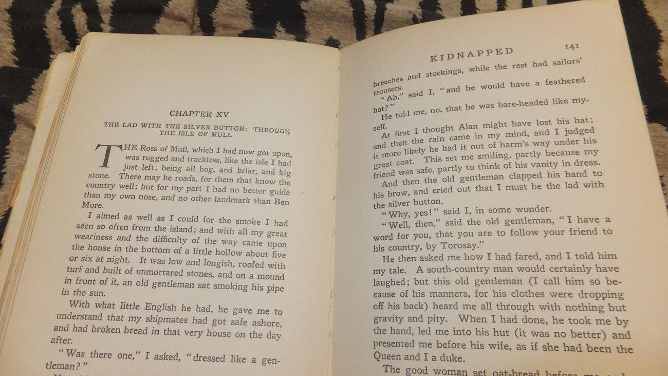 Kidnapped - Robert Louis Stevenson - Antique Book 1880's