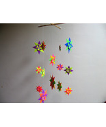 Origami Mobile - Baby Mobile - Nursery Decor - Colorful Modular Star Mobile - $38.00