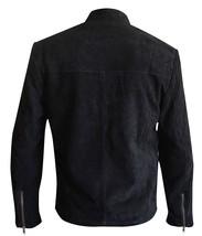 James Bond Spectre 007 Daniel Craig Black Suede Leather Jacket image 3
