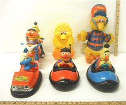 Sesame Street Lot Illco Big Bird Wind-Up Bert & Ernie Cars Musical Big B... - $27.81