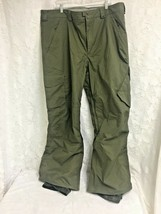 Burton Snowboard Pants Dayride Mens XXL Green Cargo Vented Snow Winter Logo - $41.57