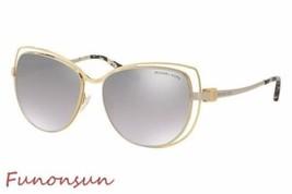 Michael Kors AUDRINA I Women's Sunglasses MK1013 11196V Gold Silver Cat Eye - $119.31