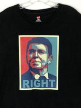 Ronald Reagan RIGHT Campaign Poster Republican Black 2XL T-Shirt - $19.68