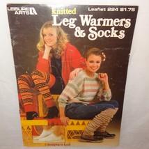 Leg Warmers Socks Knitted 1982 Booklet 224 Leisure Arts 5 Designs Retro - $12.99