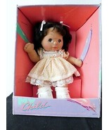 1985 MY CHILD DOLL HISPANCI Brown Hair, Brown Eyes Peach  Party Dress MIB - $643.50