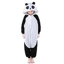 NEWCOSPLAY Unisex Children Cute Panda Pyjamas Halloween Costume 5-Height... - $25.19