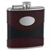 Top Shelf 6 oz 2-Tone (Wine/Black) Hip Flask with Personalization - $14.62