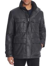 SAM. New York Mens Cargo Waxed Cotton Field Jacket Coat Carbon Black $595 - $249.99