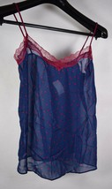 Only Hearts Silk Womens Odette Camisole Polka Dot Blue Red S NWT - $49.50