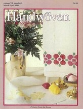 Handwoven magazine mar/apr 1986: doubleweave; rosepath - $28.57