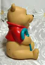 "Vintage Winnie the Pooh with Blue Cane Plastic Figurine 4"" Tall image 3"